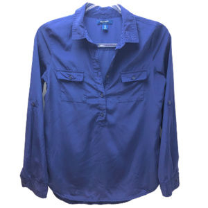 Old Navy Electric Blue Blouse Long Sleeves Size XS
